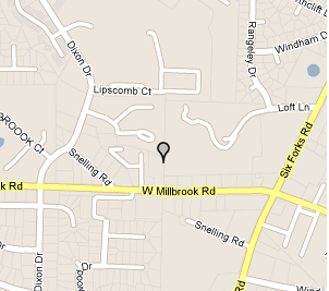 Map of 314 West Millbrook Rd, Suite 001 Raleigh, NC 27609